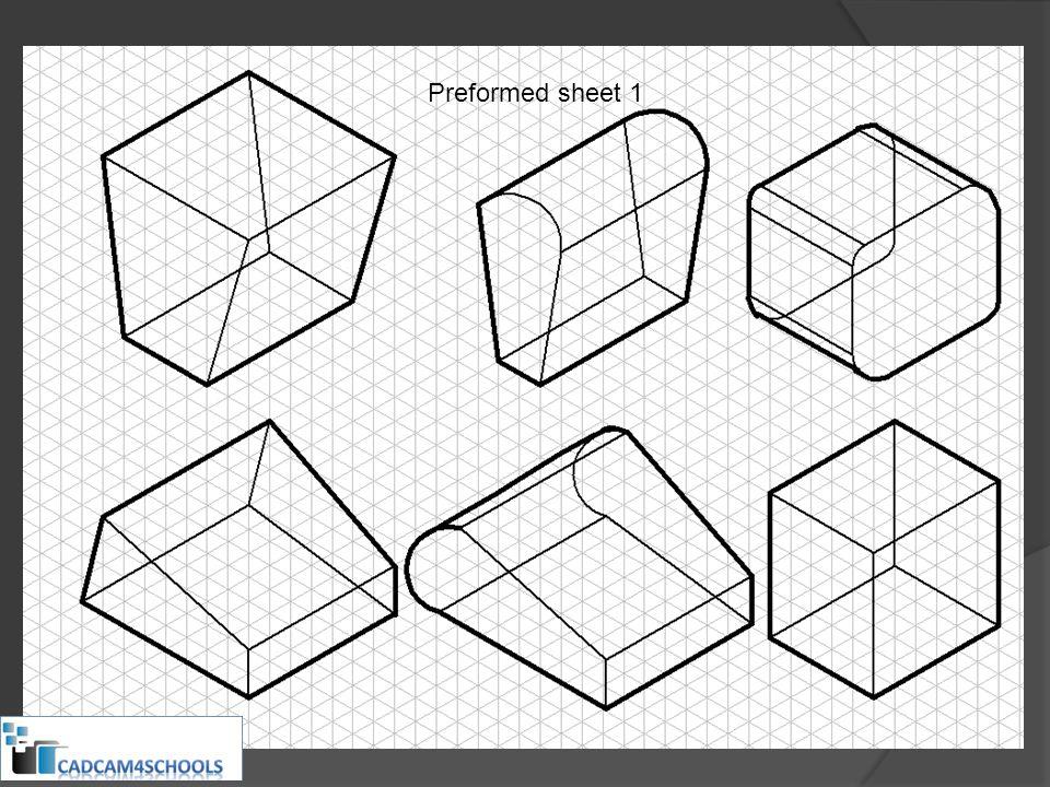 Preformed sheet 1