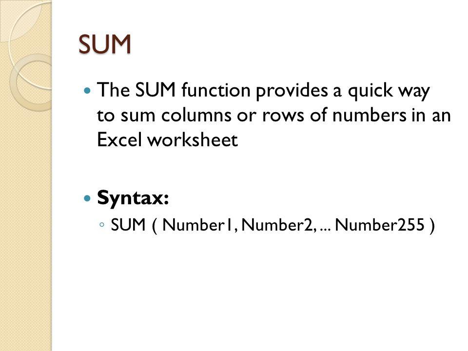 Conti… Example FormulaDescription (Result) =QUOTIENT(5, 2)Integer portion of 5/2 (2) =QUOTIENT(4.5, 3.1)Integer portion of 4.5/3.1 (1) =QUOTIENT(-10, 3)Integer portion of -10/3 (-3)