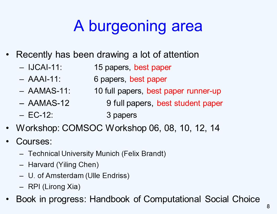 Learning [Lu and Boutilier ICML-11] Approximation by common voting rules [Caragiannis, Procaccia & Shah EC-13] 79 Recent studies on Condorcet/Mallows model