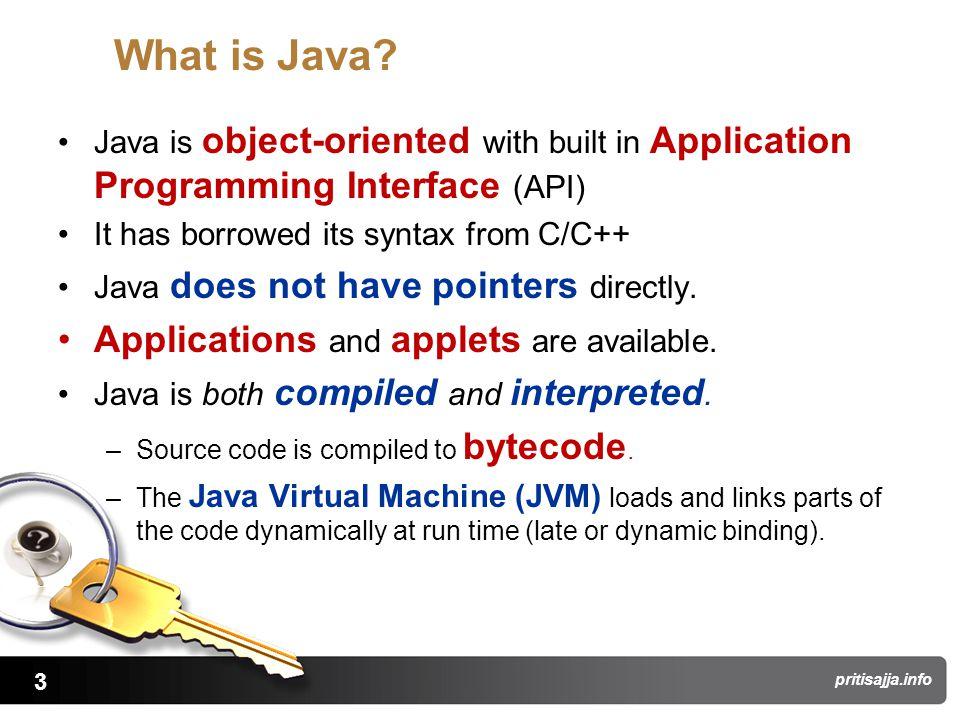 3 pritisajja.info What is Java.
