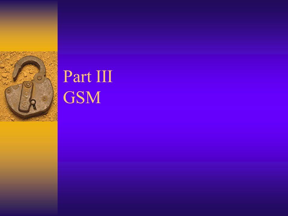 Part III GSM