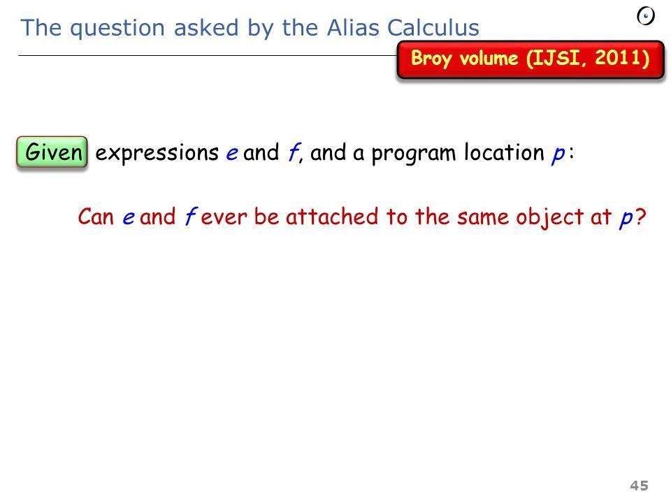 - 3.4 - The Alias Calculus 44