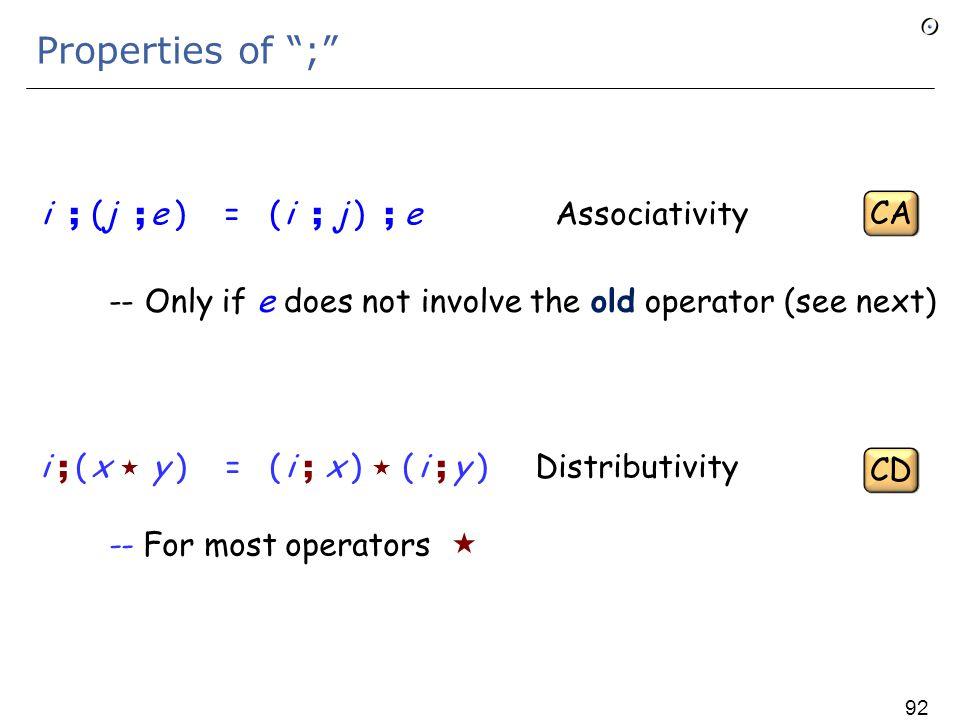 Hoare-style properties To prove {P } i {Q } prove that P  ( i ; Q ) 91