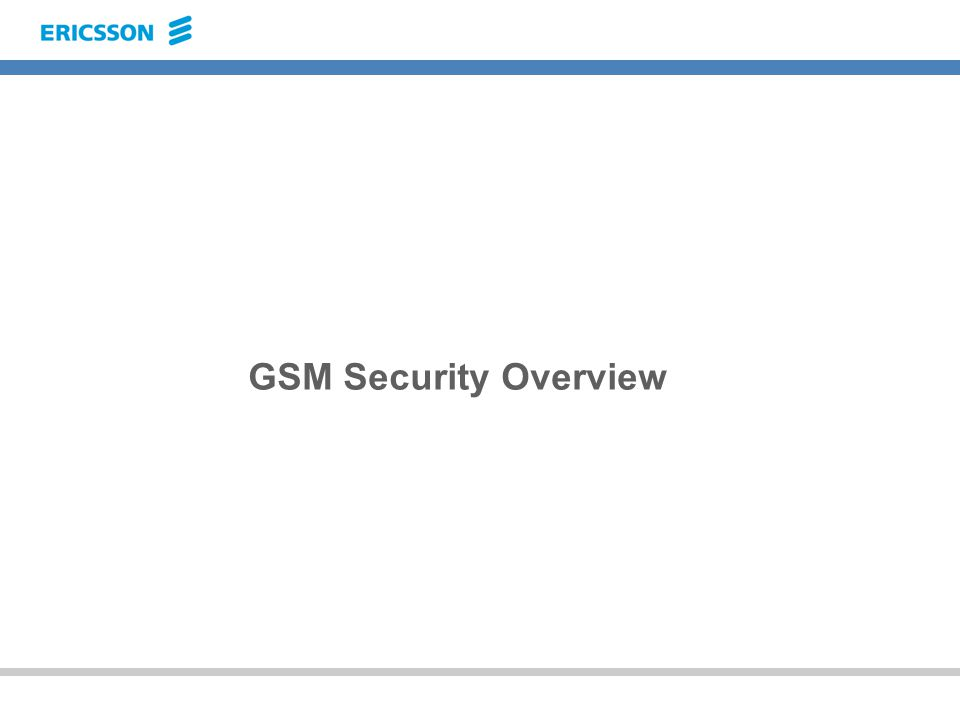 GSM Security Overview