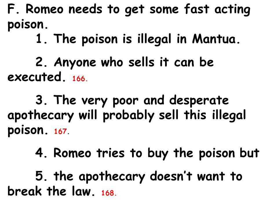 I.Romeo kills Paris. 189. J. Romeo 1. enters the tomb 2.