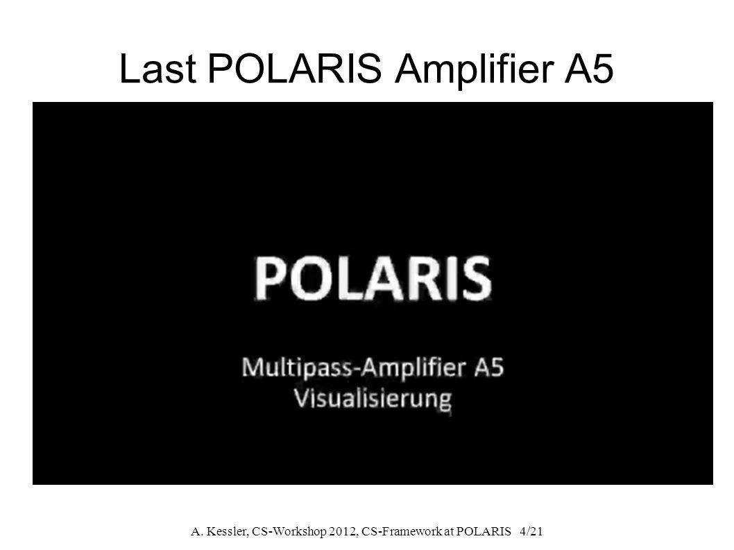 A. Kessler, CS-Workshop 2012, CS-Framework at POLARIS 4/21 Last POLARIS Amplifier A5