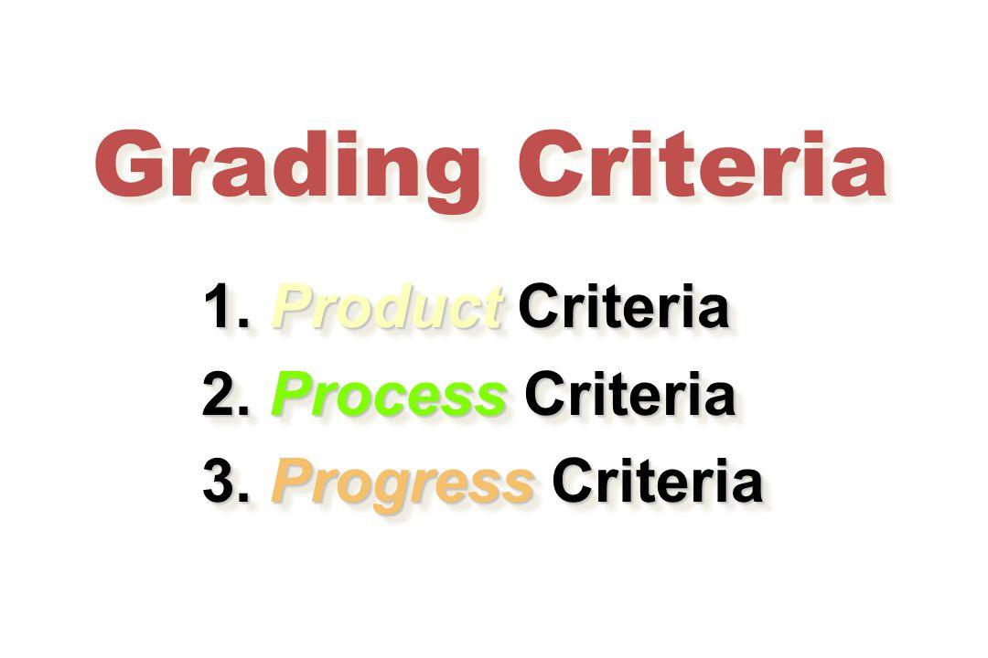 Grading Criteria 1. Product Criteria 1. Product Criteria 2.