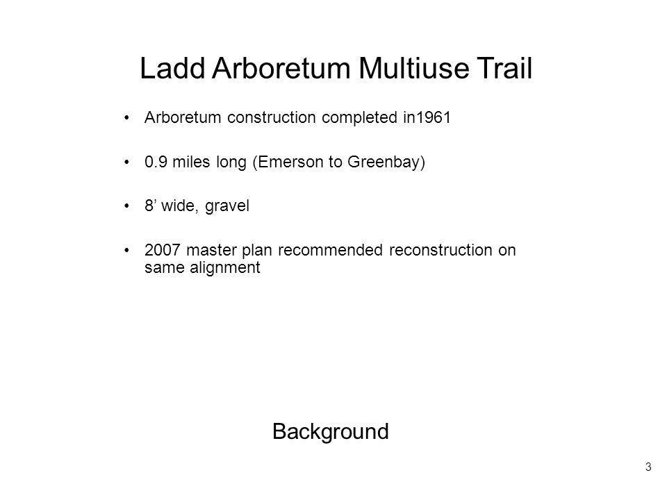 Ladd Arboretum Multiuse Trail EXISTING CONDITIONS PROPOSED CONDITIONS 14