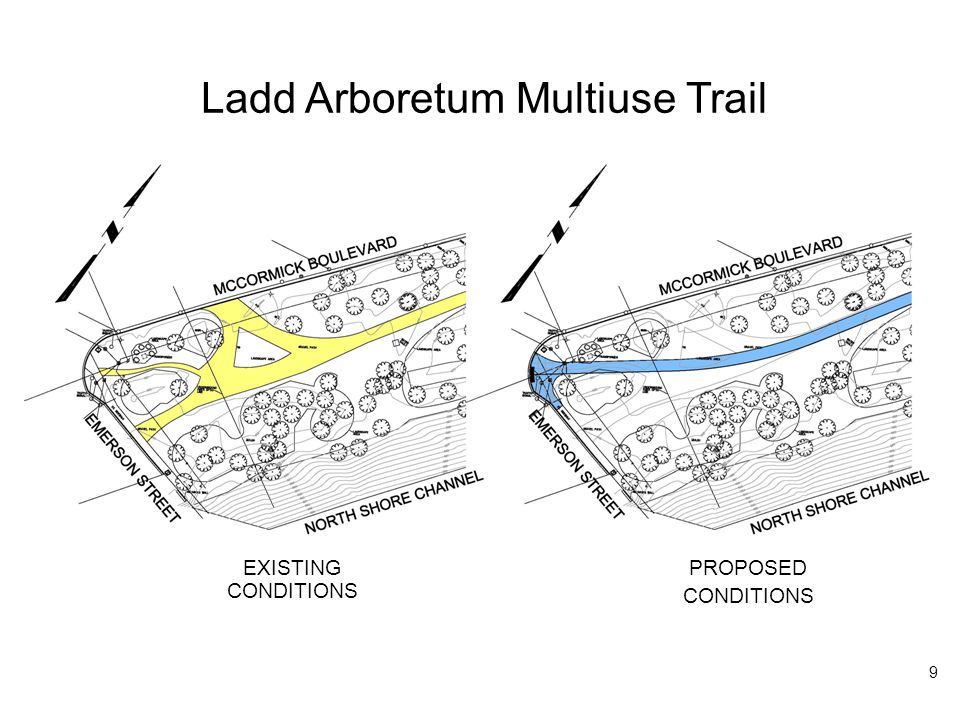 Ladd Arboretum Multiuse Trail EXISTING CONDITIONS PROPOSED CONDITIONS 9