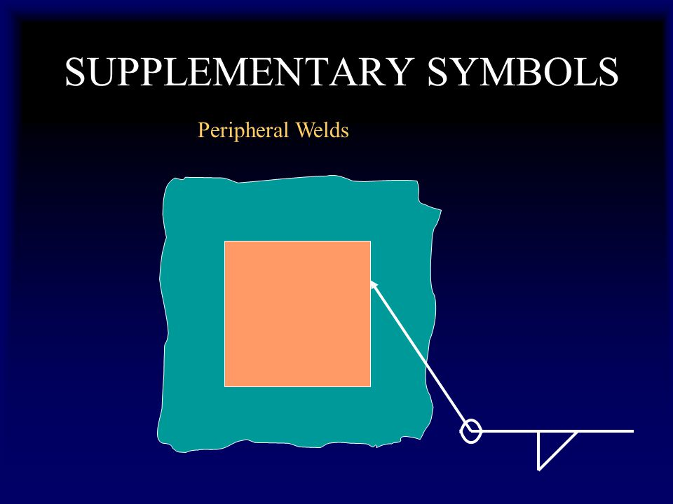 SUPPLEMENTARY SYMBOLS Peripheral Welds