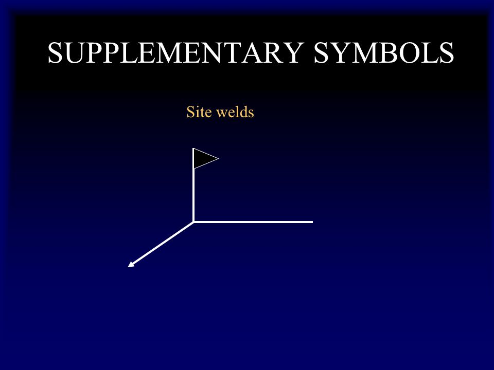 SUPPLEMENTARY SYMBOLS Site welds