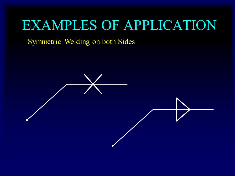 EXAMPLES OF APPLICATION Symmetric Welding on both Sides