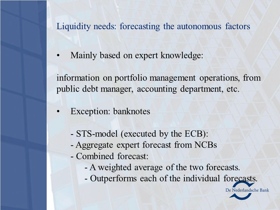 Mainly based on expert knowledge: information on portfolio management operations, from public debt manager, accounting department, etc.
