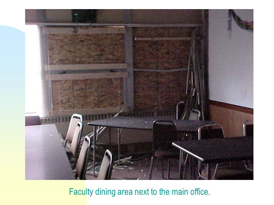 Faculty dining area next to the main office.