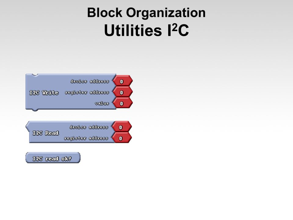 Block Organization Utilities I 2 C