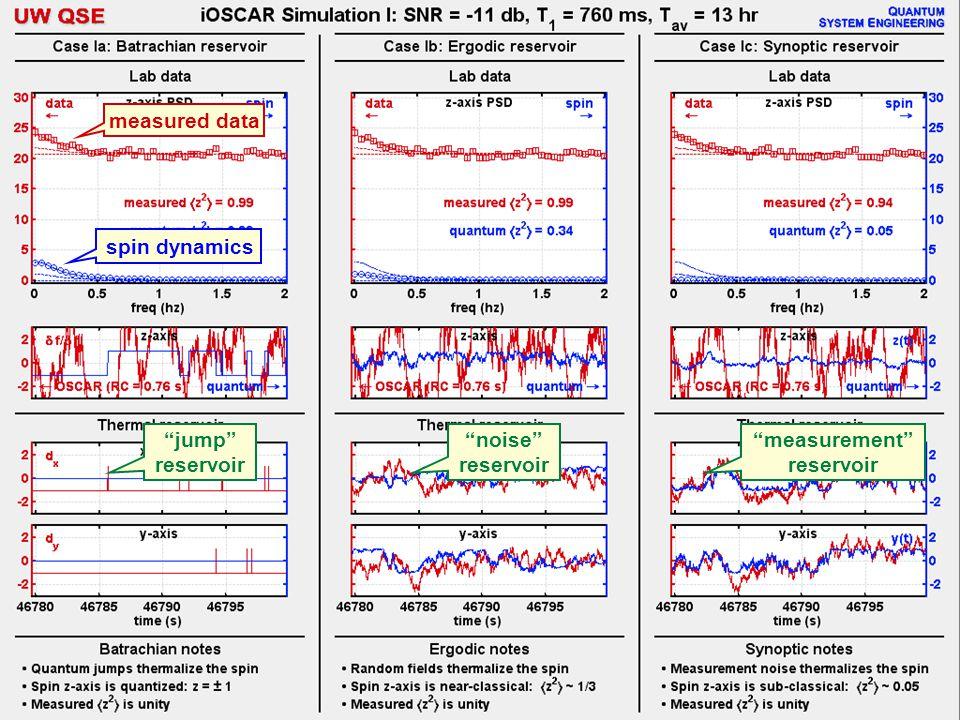 jump reservoir noise reservoir measurement reservoir measured data spin dynamics