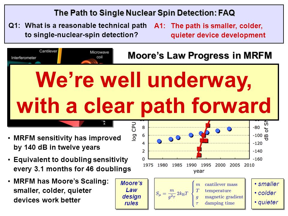 The Path to Single Nuclear Spin Detection: FAQ Q2: What are appropriate performance metrics and technical milestones.