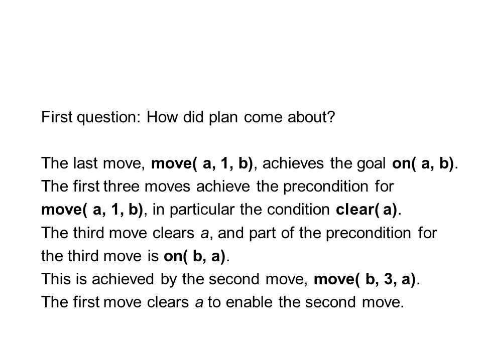 First question: How did plan come about.