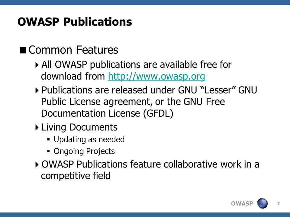 OWASP 28 OWASP Local Chapters  What do we have to offer.