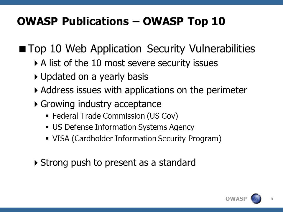 OWASP 29 OWASP Local Chapters  What do we have to offer.