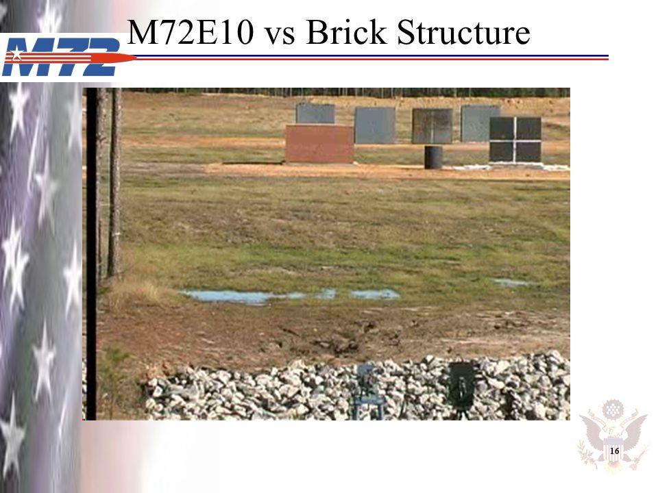 M72E10 vs Brick Structure 16