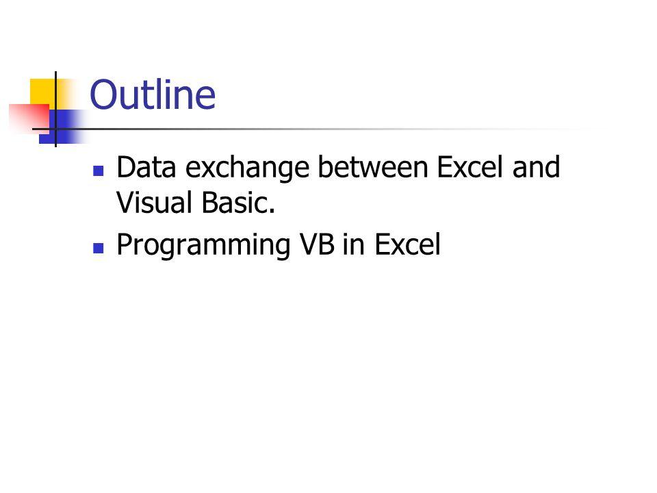 Edit VBA program in Excel