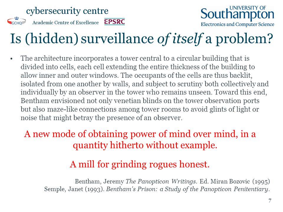 Is (hidden) surveillance of itself a problem.