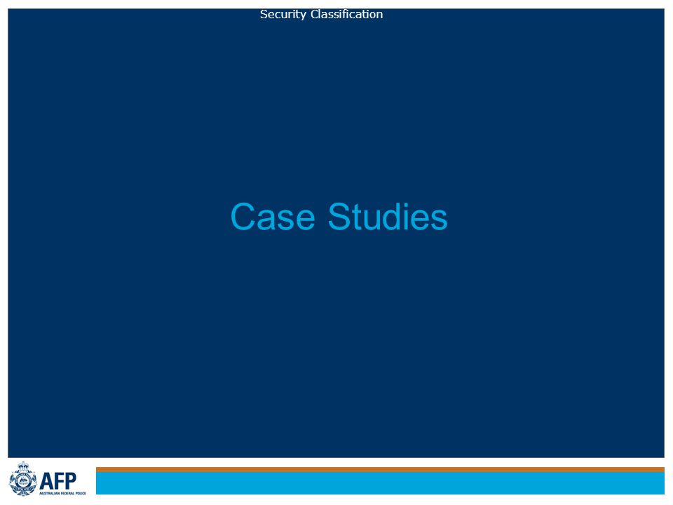 Security Classification Case Studies