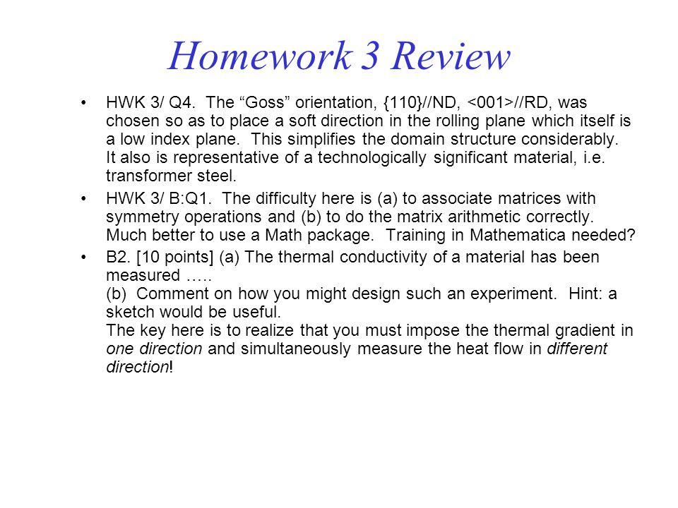 Homework 3 Review HWK 3/ Q4.