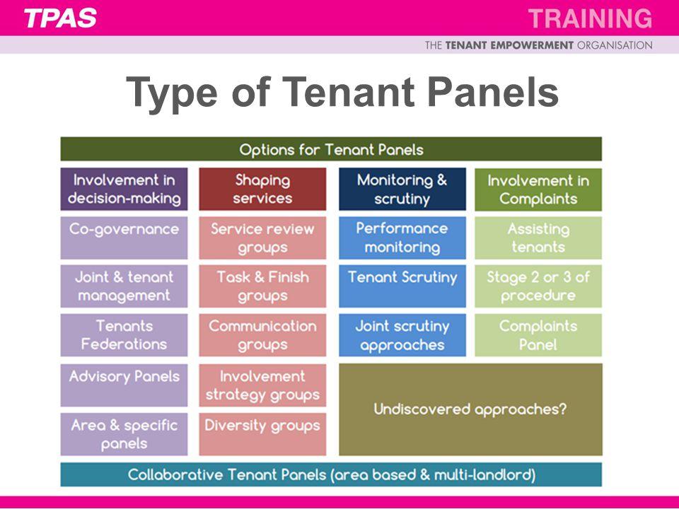Type of Tenant Panels