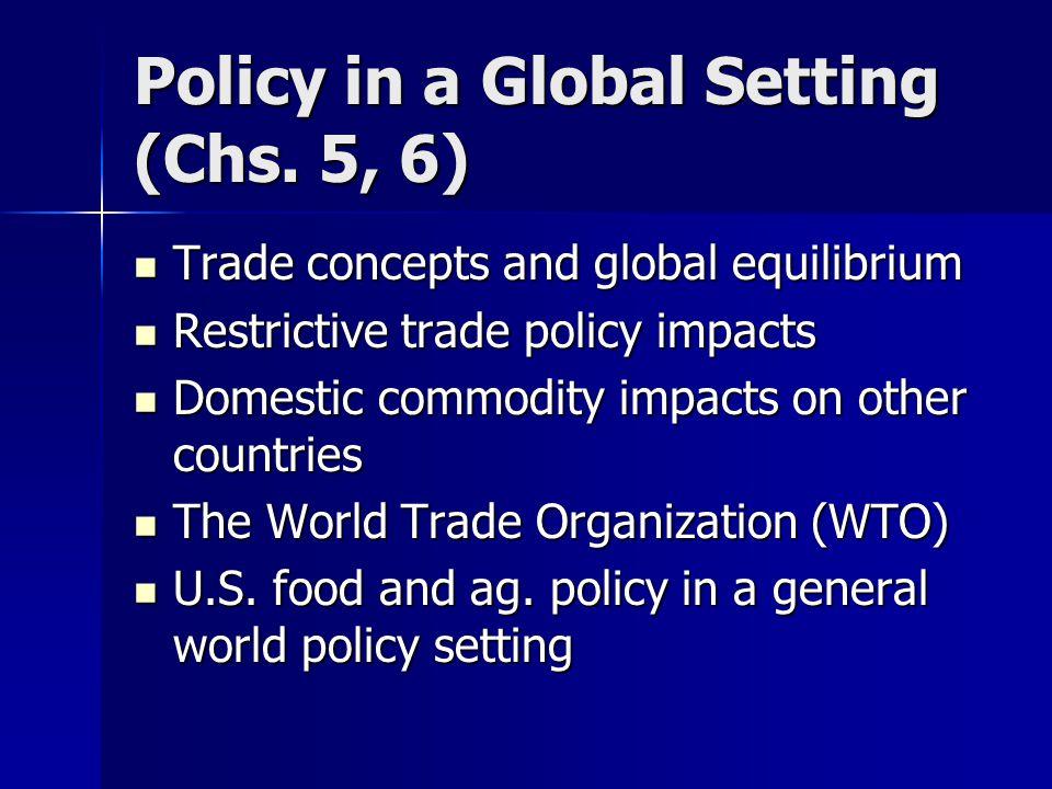 WTO (cont.) GATT Rounds GATT Rounds –Geneva (1947) –Annecy (1949) –Torquay (1951) –Geneva (1956) –Dilion (1960/61) –Kennedy (1964-1967) –Tokyo (1974-1979) –Uruguay (1986-1993) –Doha (2001--)