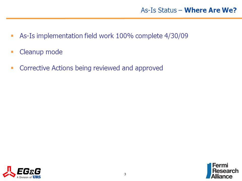 4 As-Is Status – Focus on CAPs