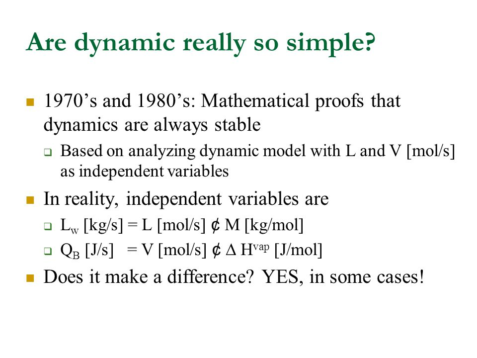 Are dynamic really so simple.