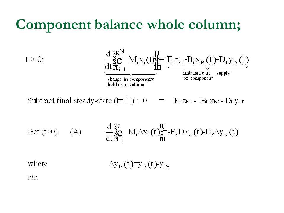 Component balance whole column;
