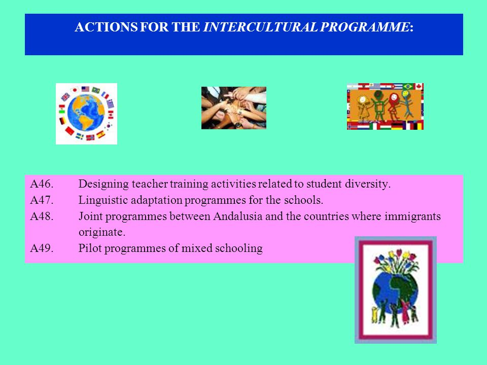 ACTIONS FOR THE INTERCULTURAL PROGRAMME: A46.