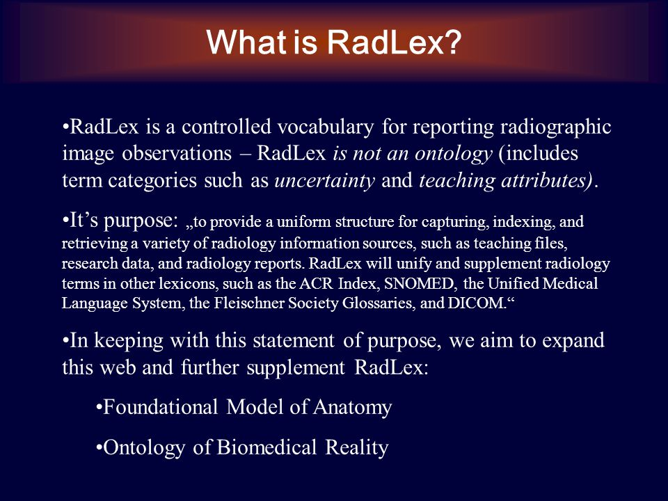 What is RadLex.