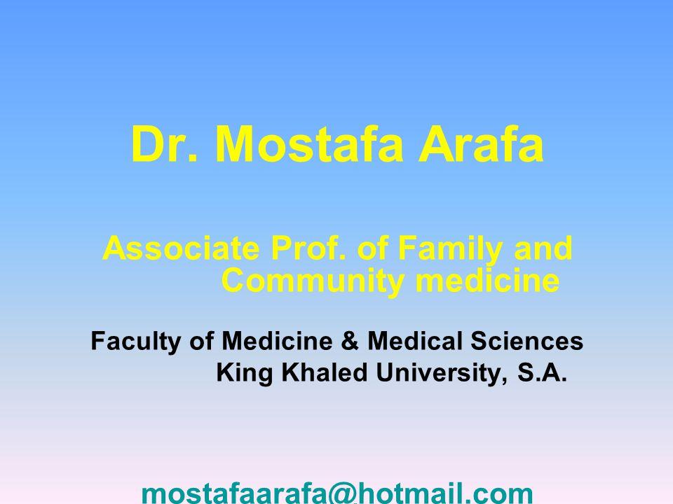 Dr. Mostafa Arafa Associate Prof.