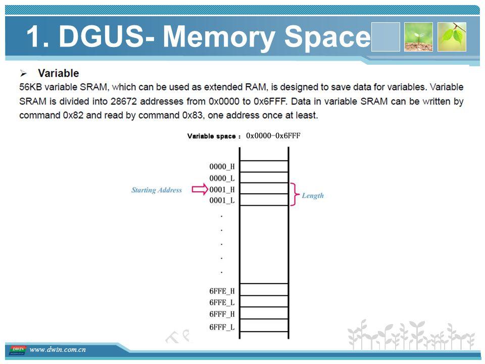 www.dwin.com.cn 1. DGUS- Memory Space