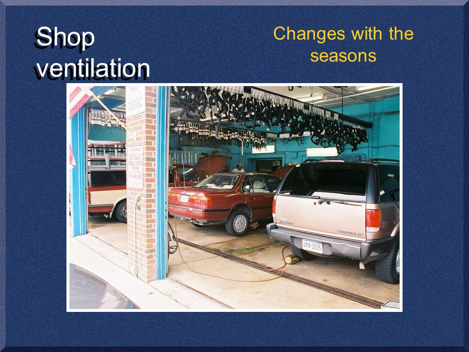 Shop ventilation Changes with the seasons