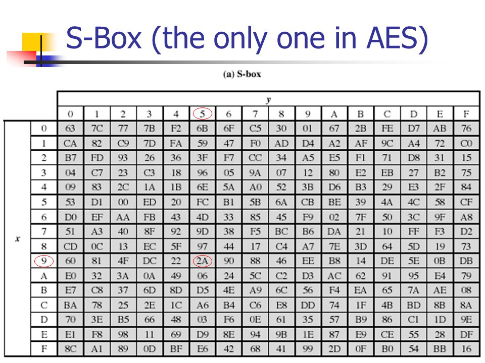 S-Box (the only one in AES)