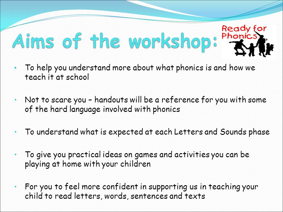 Is the start of systematic phonic work.Introduces the phoneme-grapheme correspondence.