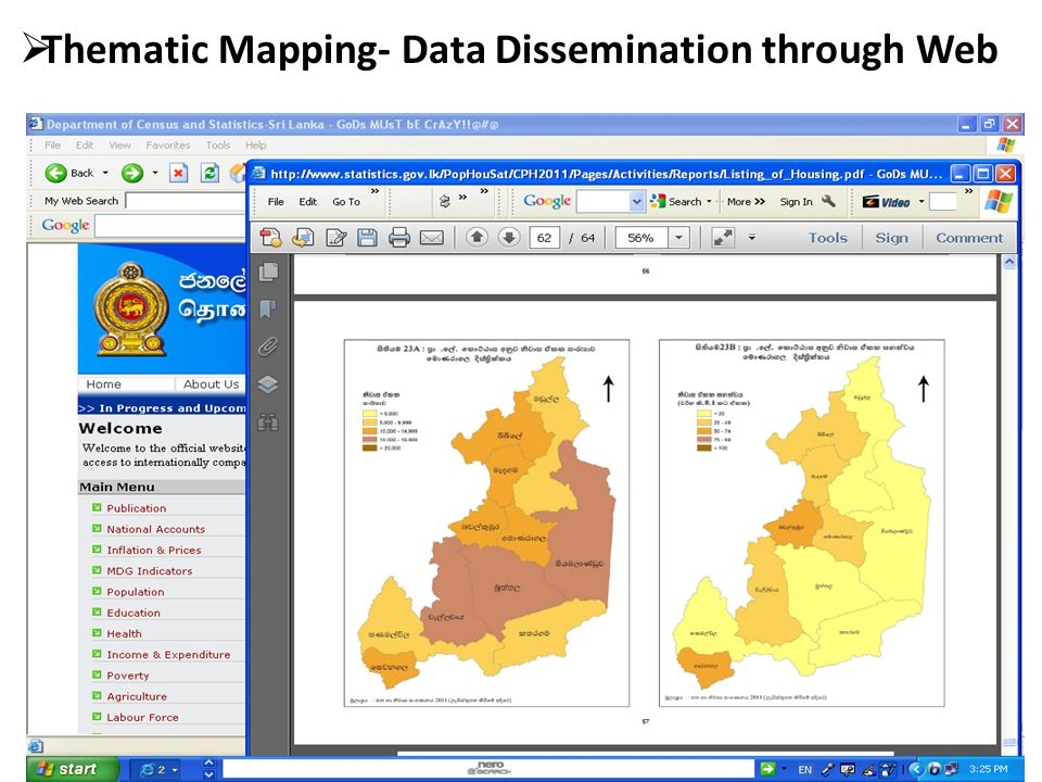  Thematic Mapping- Data Dissemination through Web