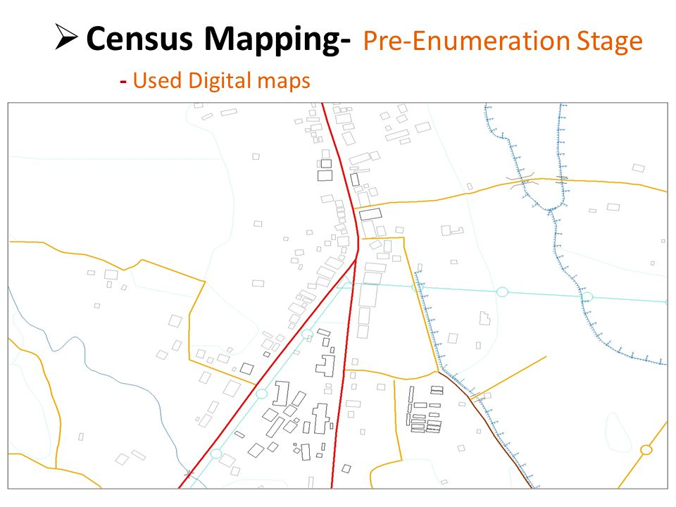  Census Mapping- Pre Enumeration Stage - Used Digitized GN division Boundaries in 2001 census