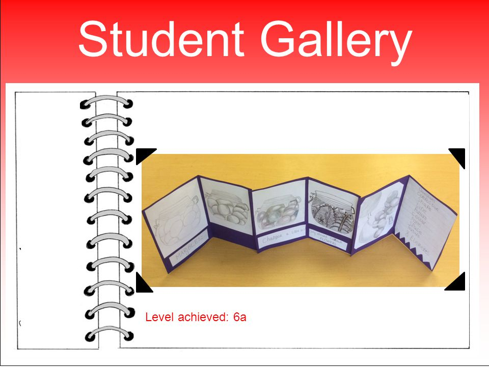 Student Gallery Level achieved: 6a