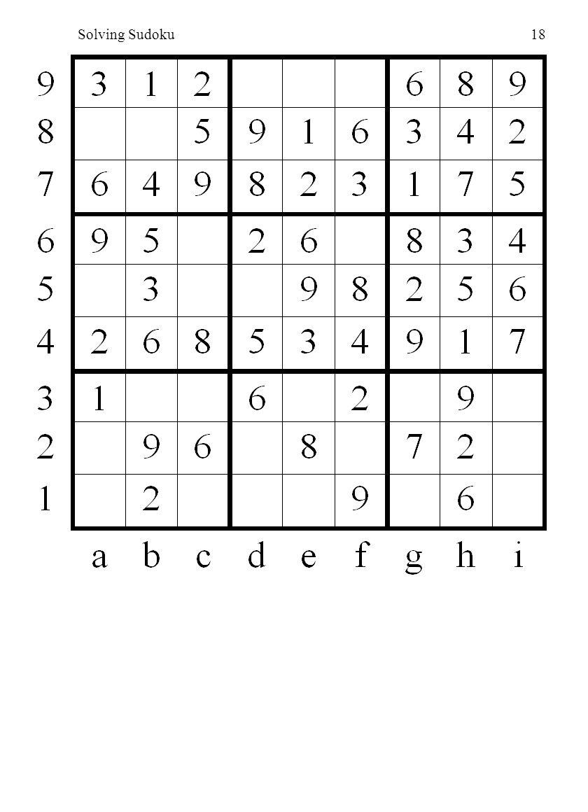 Solving Sudoku18