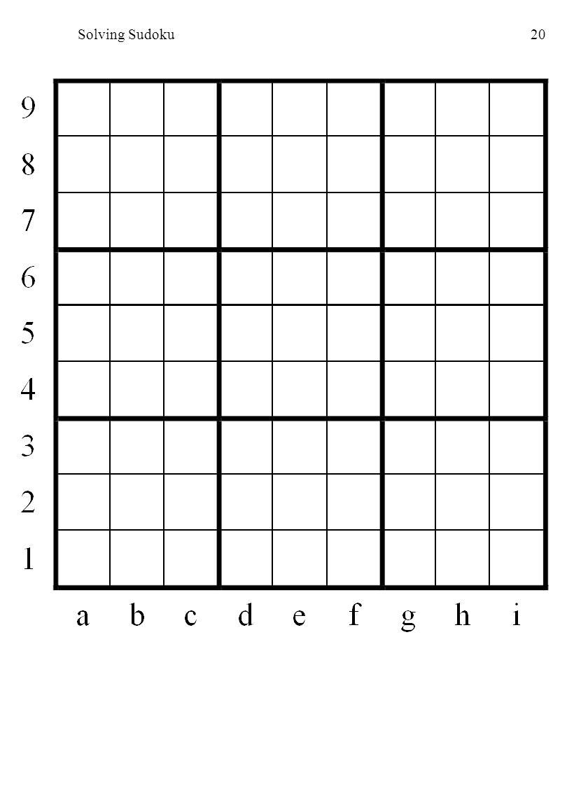 Solving Sudoku20
