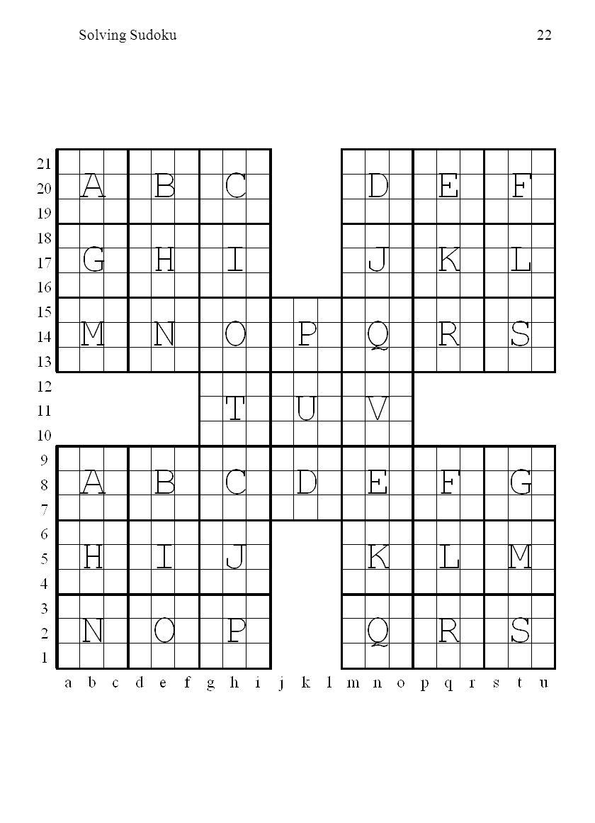 Solving Sudoku22