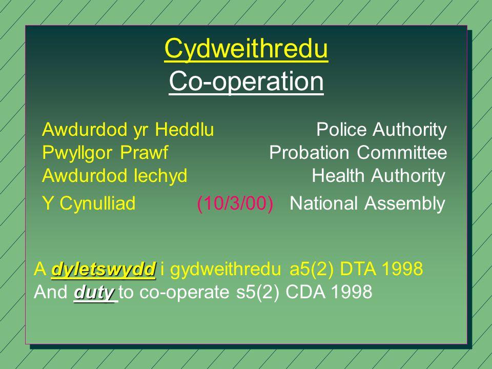 Richard Brunstrom Diprwy Brif Gwnstabl Deputy Chief Constable Trosedd ac Anhrefn - Ymdriniaeth ar y Cyd Crime and Disorder - A Joined Up Approach 14/07/2000 Heddlu Gogledd Cymru North Wales Police