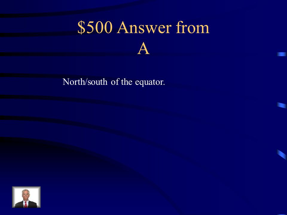 $500 Question from A Latitude measures distances / of what?