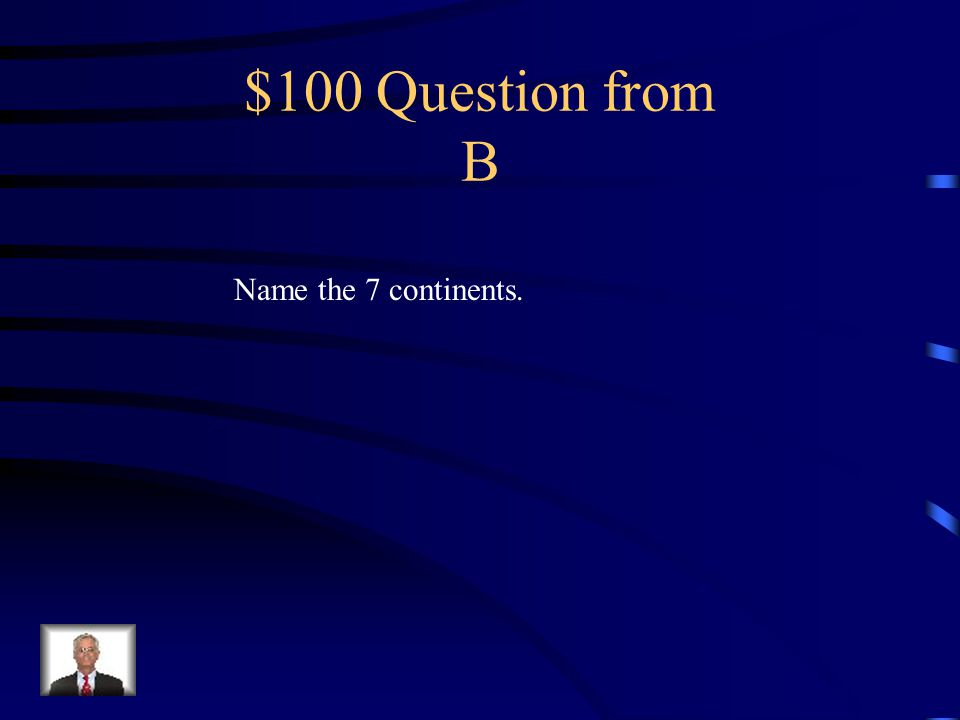 $500 Answer from A North/south of the equator.